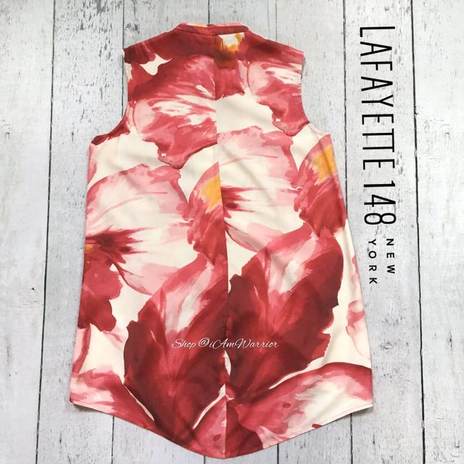 Lafayette 148 New York Top Pink, white Image 7