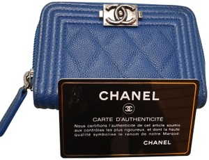 Chanel Chanel Boy quilted card case