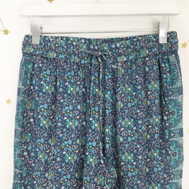 Joie Silk Floral Print Trouser Pants Purple, Blue Image 1
