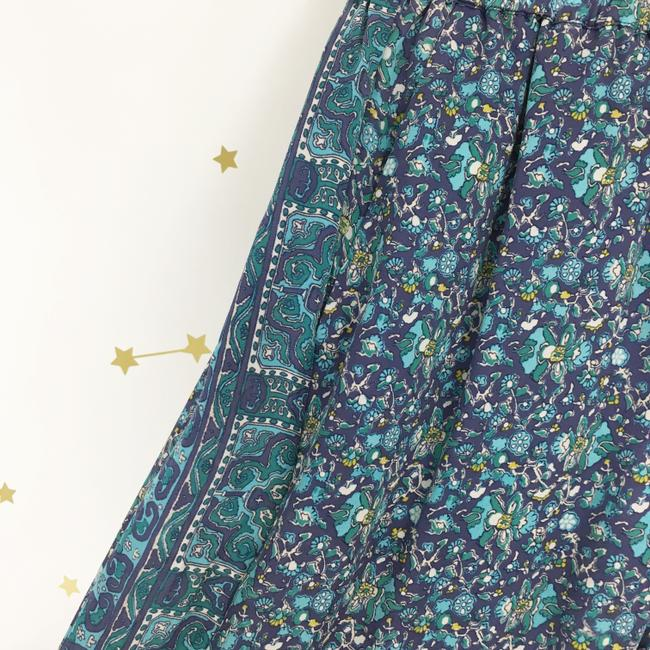 Joie Silk Floral Print Trouser Pants Purple, Blue Image 2
