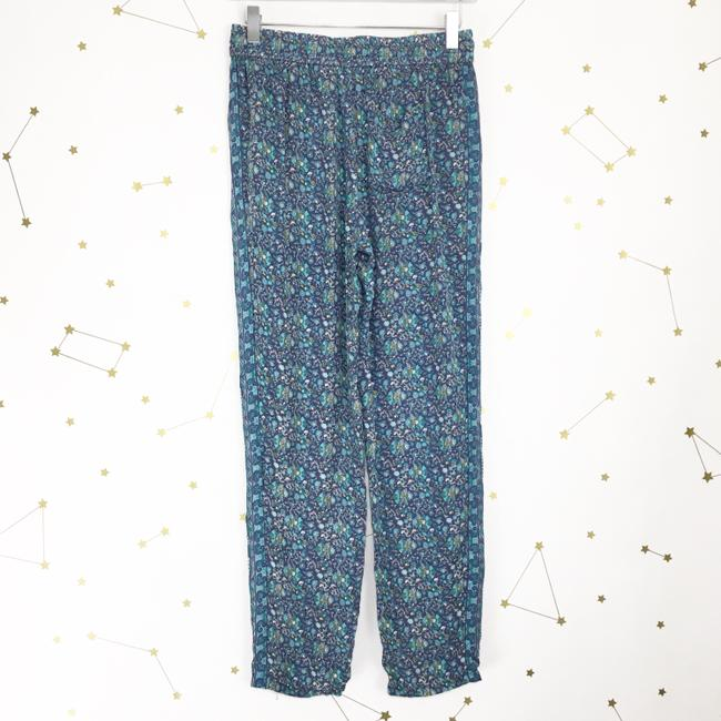 Joie Silk Floral Print Trouser Pants Purple, Blue Image 3