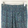 Joie Silk Floral Print Trouser Pants Purple, Blue Image 4
