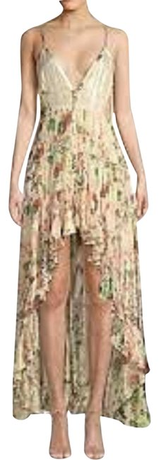 Preload https://img-static.tradesy.com/item/25149363/floral-plunging-high-low-ruffle-mid-length-cocktail-dress-size-8-m-0-1-650-650.jpg
