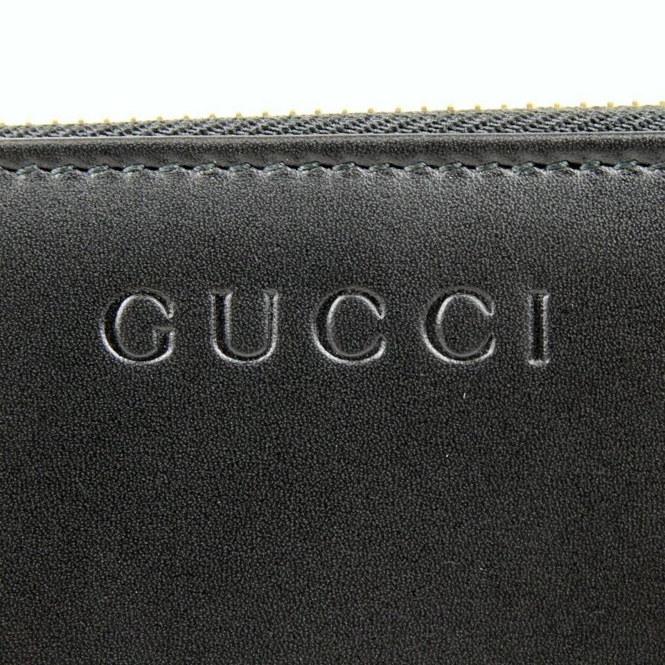 db6d44750c46 Gucci Gucci Black Leather Classic Zip Around Wallet w/logo 332747 1000  Image 7. 12345678