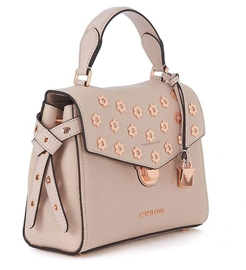 Michael Kors Leather Satchel in Soft pink Image 2