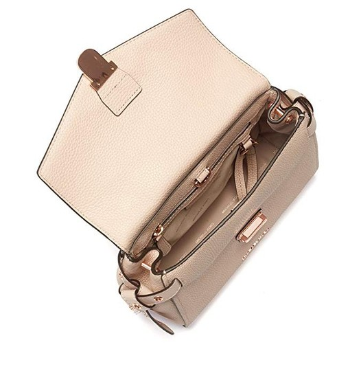 Michael Kors Leather Satchel in Soft pink Image 4