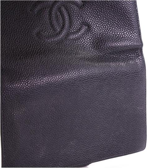 Chanel Prada Tote Leather black Clutch Image 7