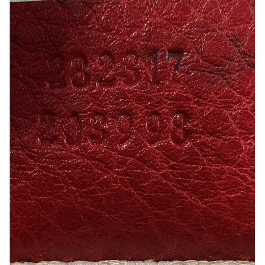 Gucci Leather Tote in red Image 8
