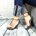 Giorgio Armani Pumps Suede Heels Casual Elegant Fashion Pumps Taupe Gray Sandals Image 11