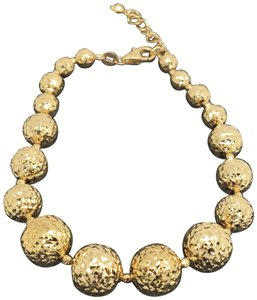 Other 18K Yellow Gold Diamond Cut Balls Bracelet