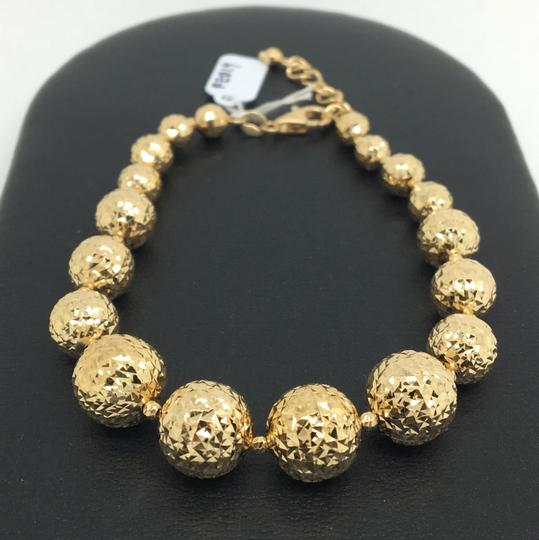 Other 18K Yellow Gold Diamond Cut Balls Bracelet Image 1