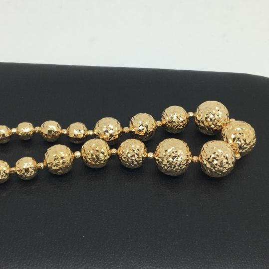 Other 18K Yellow Gold Diamond Cut Balls Bracelet Image 2