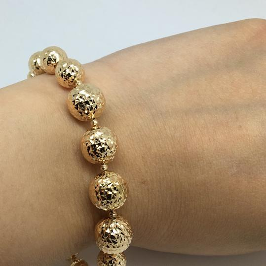 Other 18K Yellow Gold Diamond Cut Balls Bracelet Image 5