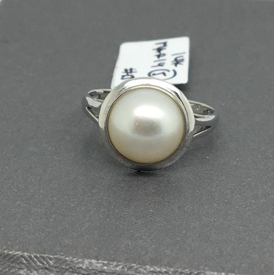 other 14K White Gold Natural Bezel Style Ring Image 1