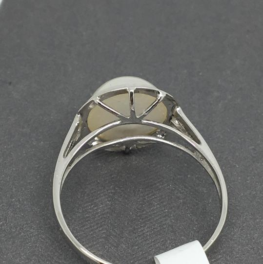 other 14K White Gold Natural Bezel Style Ring Image 3