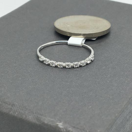 other 14K White Gold Natural Diamond Thin Band/ Stackable Ring Image 1