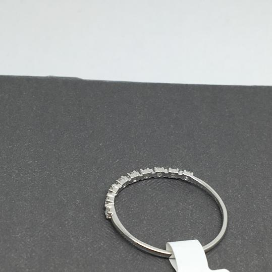 other 14K White Gold Natural Diamond Thin Band/ Stackable Ring Image 3