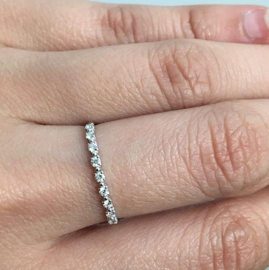 other 14K White Gold Natural Diamond Thin Band/ Stackable Ring Image 5