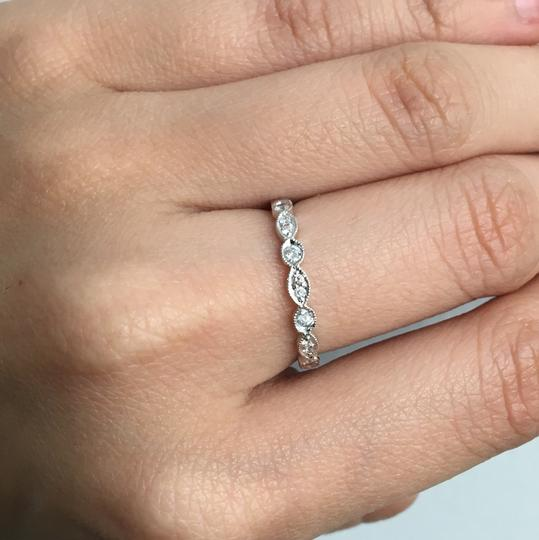other 14K White Gold Natural Genuine Diamond Band Image 5