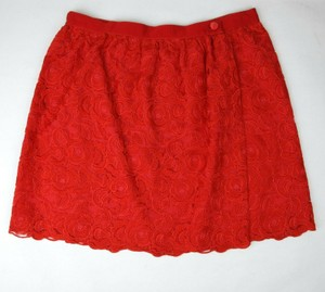 Gucci Red Cotton Floral Lace Button Wrap Skirt 10 Years 405978 6400 Groomsman Gift