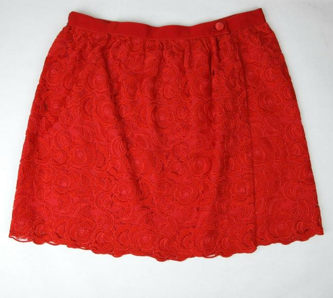 Item - Red Cotton Floral Lace Button Wrap Skirt 10 Years 405978 6400 Groomsman Gift
