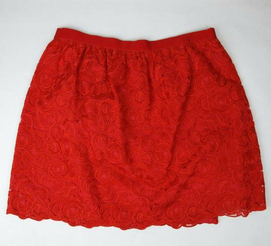 Gucci Red Cotton Floral Lace Button Wrap Skirt 10 Years 405978 6400 Groomsman Gift Image 1