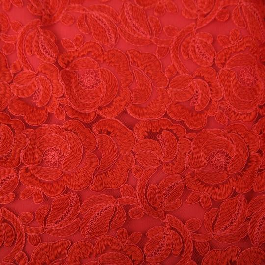Gucci Red Cotton Floral Lace Button Wrap Skirt 10 Years 405978 6400 Groomsman Gift Image 2