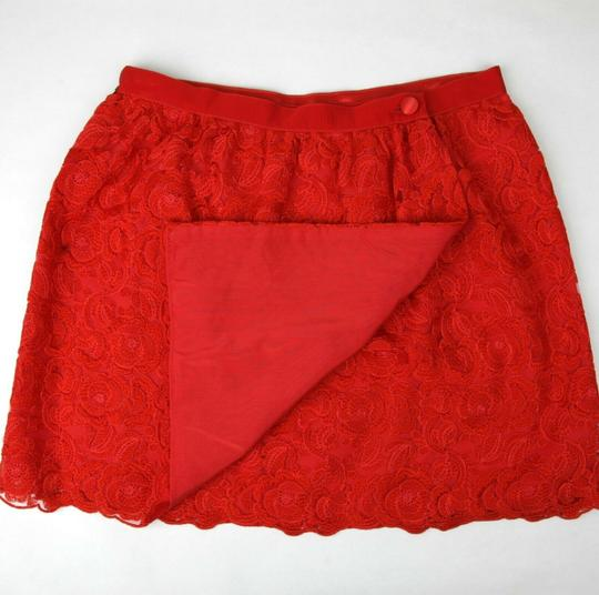 Gucci Red Cotton Floral Lace Button Wrap Skirt 10 Years 405978 6400 Groomsman Gift Image 4