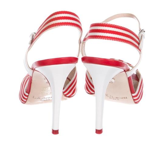 L.K. Bennett Red/White Sandals Image 2