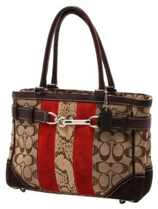 Coach Satchel in brown/red