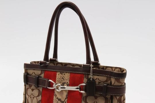 Coach Satchel in brown/red Image 2