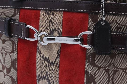 Coach Satchel in brown/red Image 3