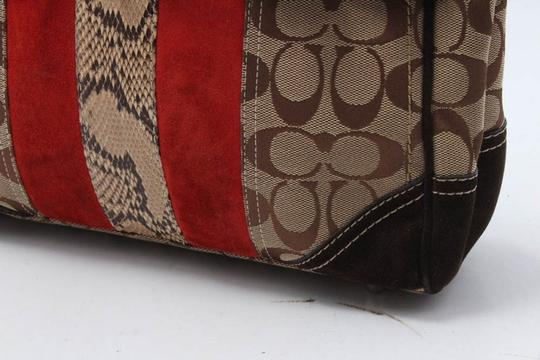 Coach Satchel in brown/red Image 4