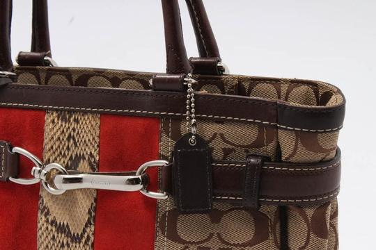 Coach Satchel in brown/red Image 5