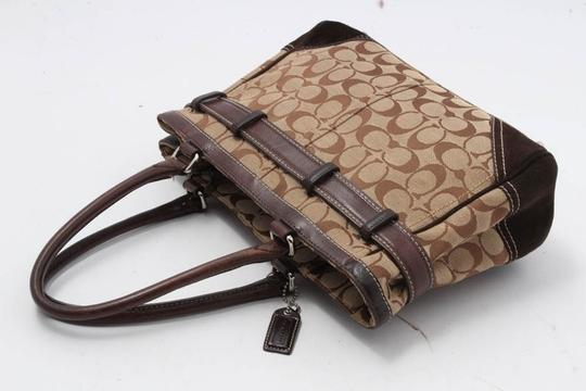 Coach Satchel in brown/red Image 6