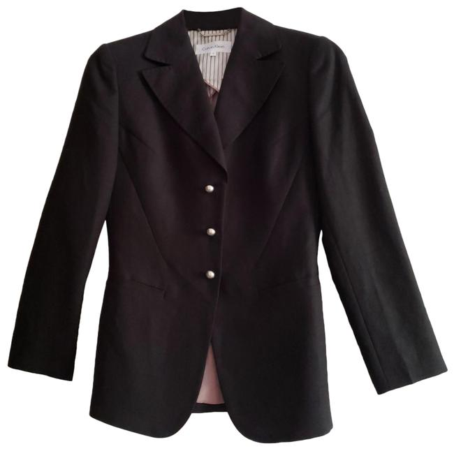 Item - Black Fine Tailored Two Piece Linen Lightweight Summer Dressy Casual Pant Suit Size 2 (XS)