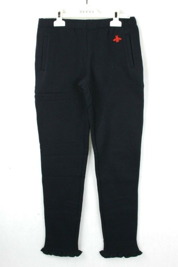 Gucci Navy Jersey Cotton Pant with Ruffled Hem 12 Years 435063 4134 Groomsman Gift Image 1