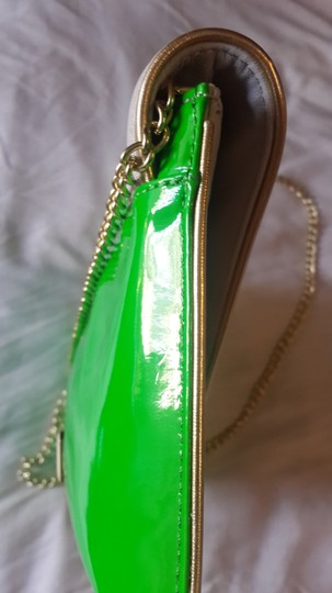 Steve Madden Neon Green and Grey Clutch