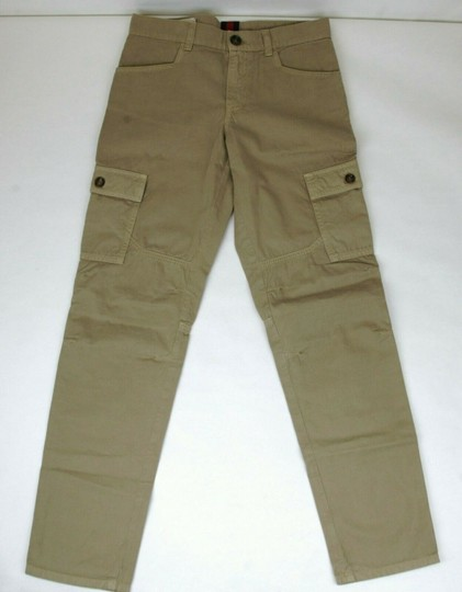Preload https://img-static.tradesy.com/item/25149905/gucci-khaki-children-s-washed-cotton-gabardine-pant-10-years-409564-9020-groomsman-gift-0-0-540-540.jpg