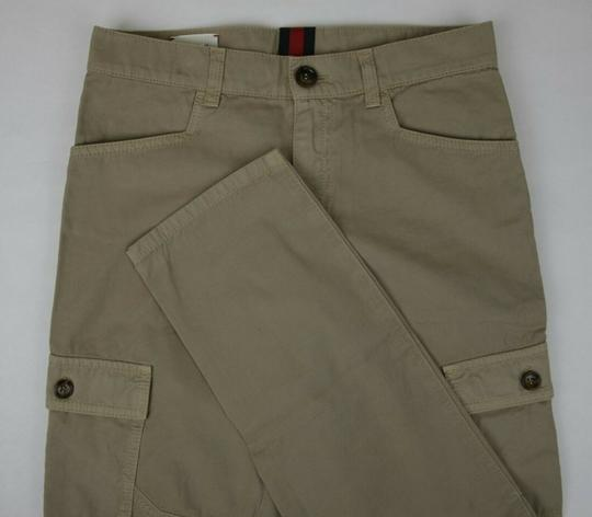 Gucci Khaki Children's Washed Cotton Gabardine Pant 10 Years 409564 9020 Groomsman Gift Image 3