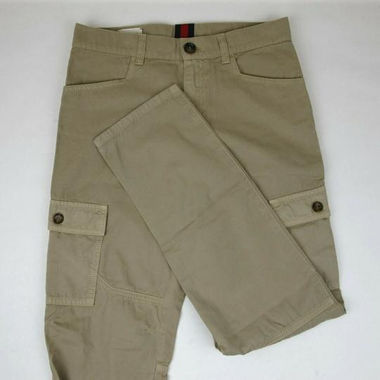 Gucci Khaki Children's Washed Cotton Gabardine Pant 10 Years 409564 9020 Groomsman Gift Image 4