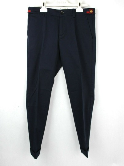 Gucci Navy W Stretch Cotton Gabardine Pant W/Web 12 Years 452284 4277 Groomsman Gift Image 2