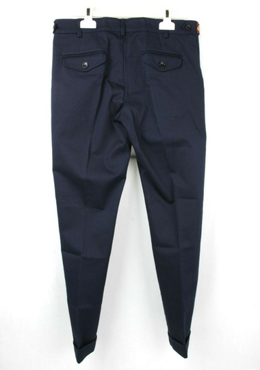 Gucci Navy W Stretch Cotton Gabardine Pant W/Web 12 Years 452284 4277 Groomsman Gift Image 3