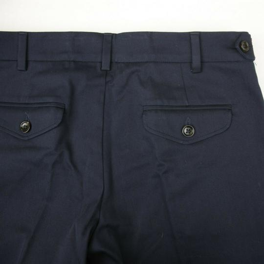 Gucci Navy W Stretch Cotton Gabardine Pant W/Web 12 Years 452284 4277 Groomsman Gift Image 4