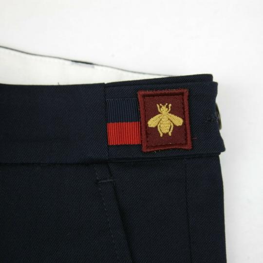 Gucci Navy W Stretch Cotton Gabardine Pant W/Web 12 Years 452284 4277 Groomsman Gift Image 5