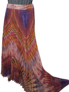 Twelve by Twelve La Colorful Unique Fashion Maxi Skirt Multicolor