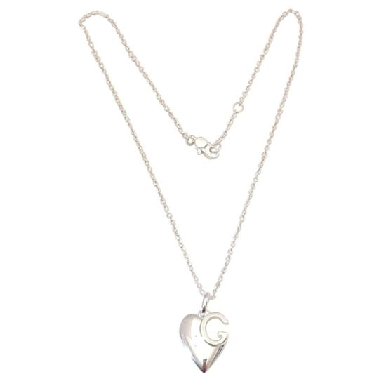Gucci Gucci sterling silver g Charlotte heart necklace. 16 in Image 1