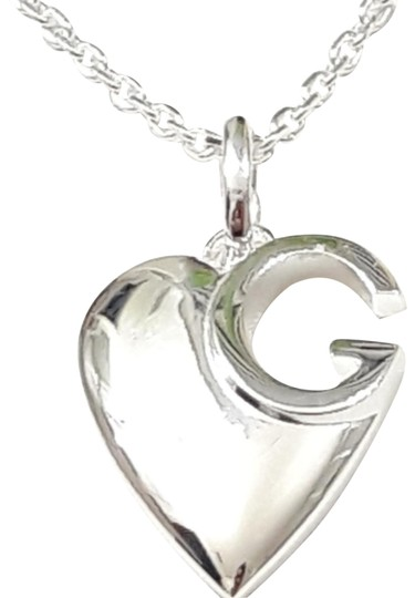 Gucci Gucci sterling silver g Charlotte heart necklace. 16 in Image 3
