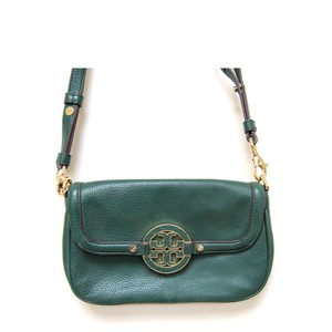 Tory Burch Leather Textured Adjustable Strap Cross Body Bag