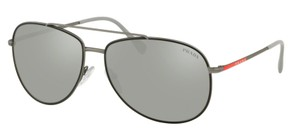 720c565d5a Prada New Aviator Mirrored Lens SPS 55U 6BJ2B0 Free 3 Day Shipping